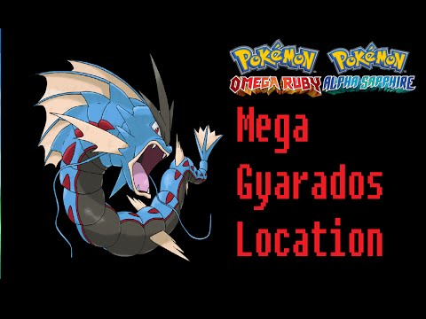 Where To Find Gyaradosite (Mega Gyarados) Pokemon Omega Ruby Alpha Sapphire