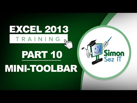 Excel 2013 for Beginners Part 10: The Excel Mini Toolbar