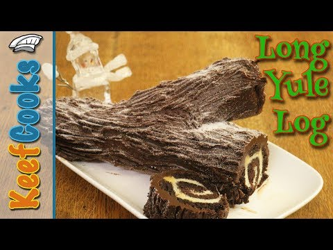 Long Yule Log   Christmas Chocolate Log