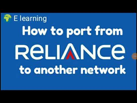 How to port Reliance sim to another network when there is no network on your mobile phone.