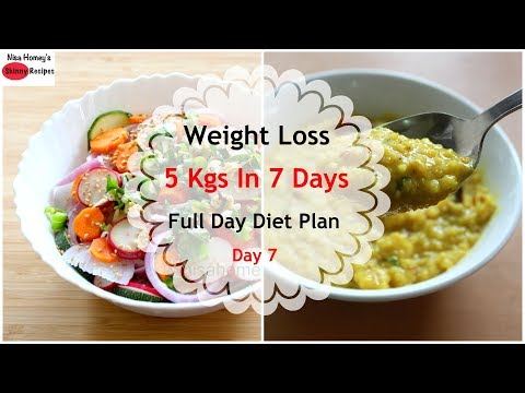 Full Day Diet Plan For Weight Loss - How To Lose Weight Fast 5 Kgs In 7 Days -Lose Weight Fast-Day 7