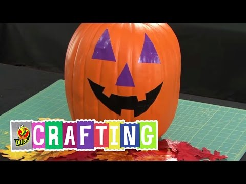 How to Craft a Duct Tape Jack O Lantern
