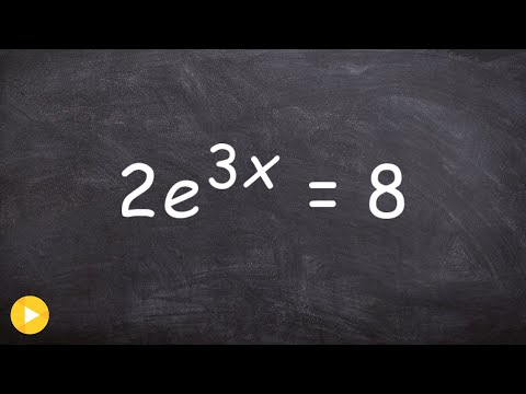Solving exponential equations by using the natural log