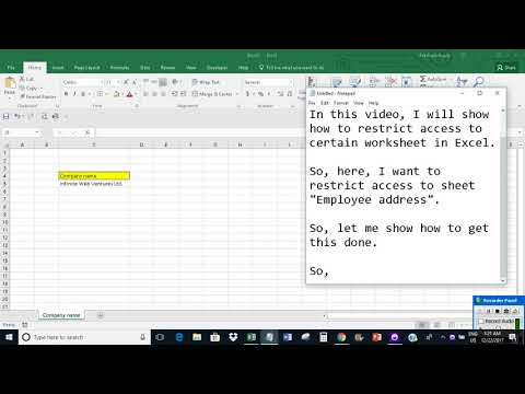 Restrict access to certain worksheet in Excel