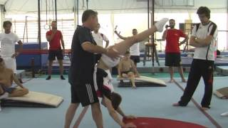 Physical preparation and joint training in gymnastics