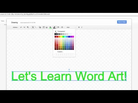 How to Insert Word Art Into Google Docs