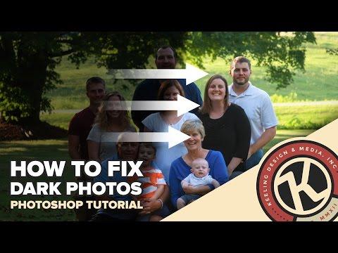Photoshop Tutorial: Fixing Dark Photos