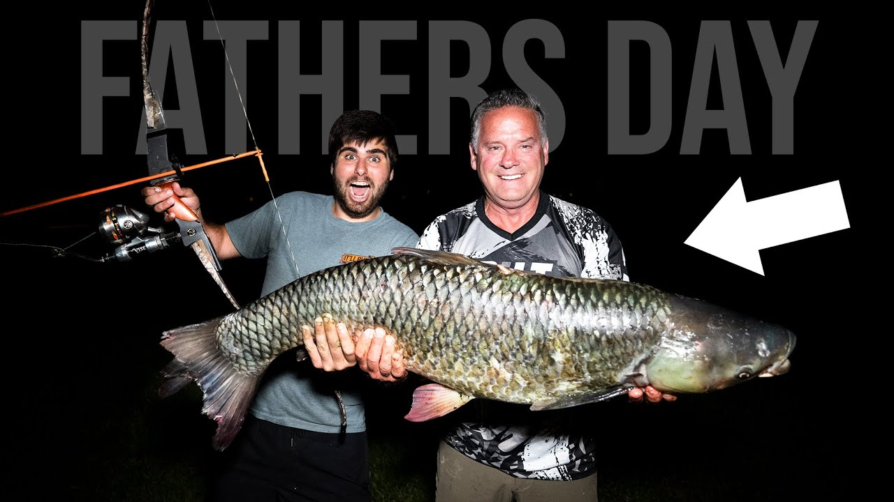 Taking My DAD BOW FISHING For FATHERS DAY!! *HUGE FISH*