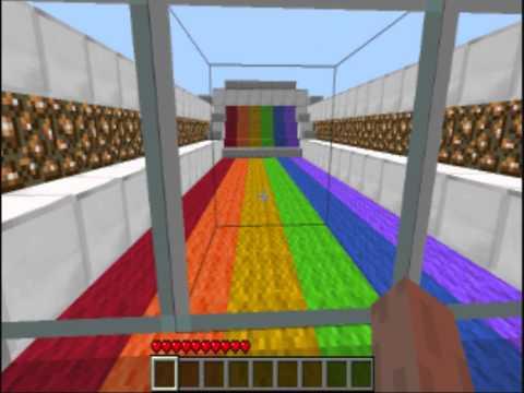 Minecraft Minigame - Rainbow Runner 'In-Game' Stop-Button Add-On