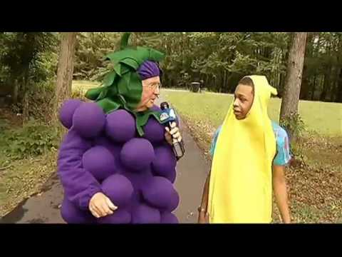 NBC station WRC,  Pat Collins Wears Grape Costume to Interview Student Suspended For Banana Costume