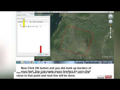 How to make map for your land from google earth