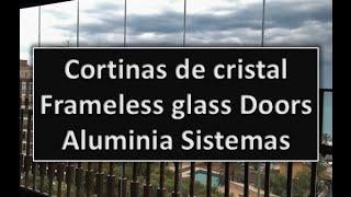 [Aluminia Sistemas] Puertas de vidrio Plegadizas - Cortinas de Cristal