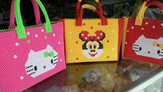 96317f41c43c4 شنطه بالخرز الخشب لام ساره How to make a woman s bag with a feather ...