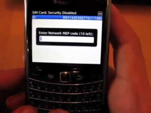 How to Unlock Blackberry Bold 9650 3 Phone using a Factory MEP Unlock Code