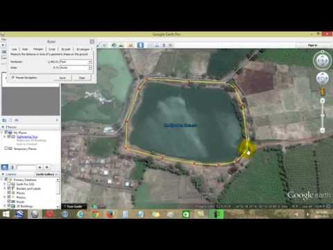 How to use the google maps  to measure your lands/lakes