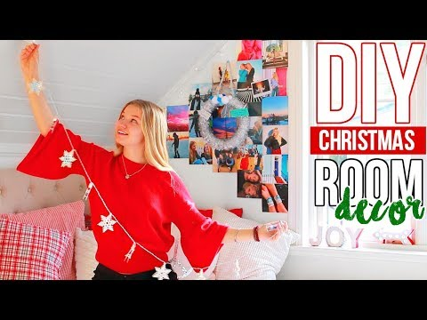 DIY CHRISTMAS DECORATIONS! 8 DIY Projects for The Holidays and Winter | Decorating my room!