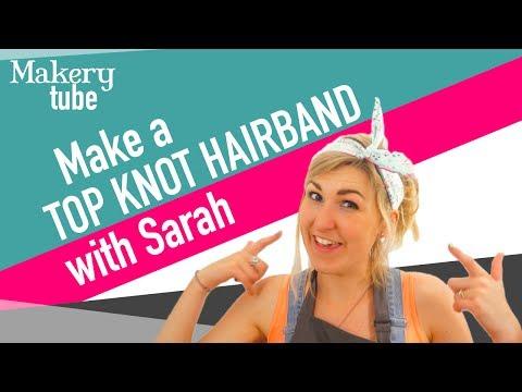 Make a super quick Top Knot Headband!