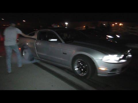 900HP Mustang vs TT Corvette - $500 GRUDGE RACE!