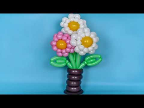 How to make flower of balloons Twisting