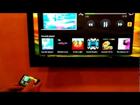 HTC One X, One S connected to TV via MHL and HDMI cable