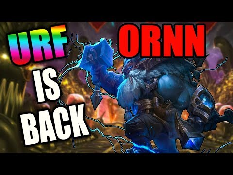URF IS BACK 2018! ORNN 3 SEC Q, W, AND E - League of Legends