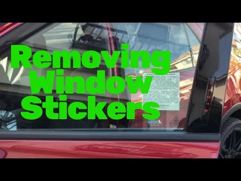 Removing Window Stickers: risk management