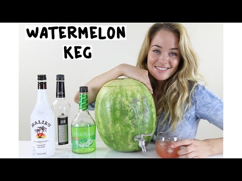 How to make a Watermelon Keg - Tipsy Bartender