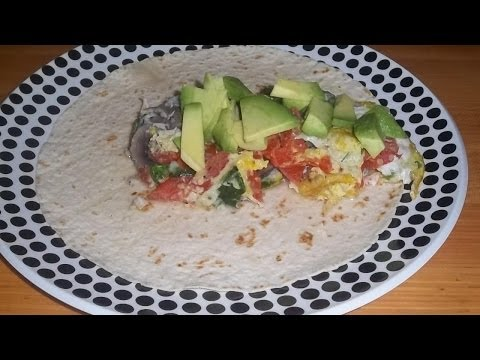 Veggie Breakfast Burrito-Heart Healthy and Weight Watchers Friendly