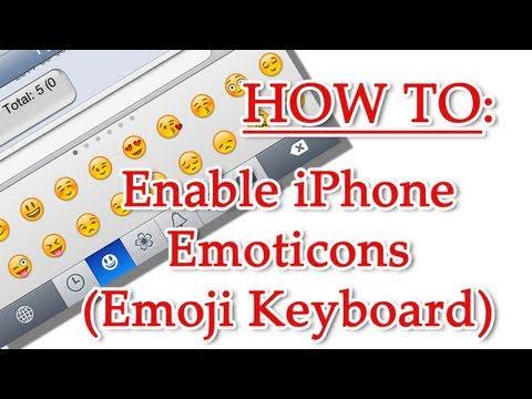 Enabling Emoticons (Emoji Keyboard) iPhone iPad iPod Touch