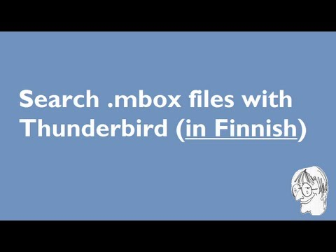 Thunderbird as search software for Mailman mailing lists (in Finnish)