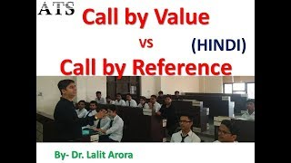 Difference between Call by Value and Call by Reference in