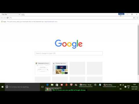 How to create new user profile in Google chrome