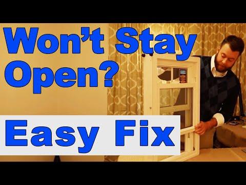 Windows Won't Stay Open - Easy Fix