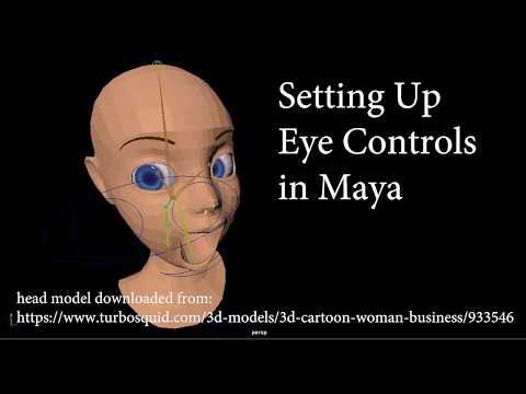 Maya Rigging Tutorial - Eye Control Setup