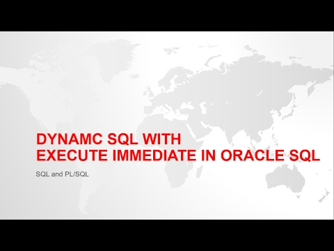 DYNAMIC SQL WITH EXECUTE IMMEDIATE IN ORACLE PL/SQL WITH EXAMPLE