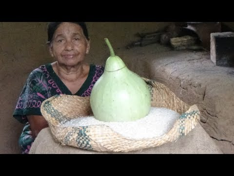 Village Foods ❤ cooking Bottle Gourd Milk Rice in my Village by my Mom