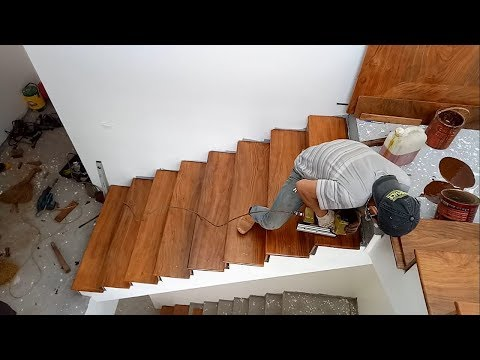 How to build Stairs Building And Installation A Wooden Staircase Treads