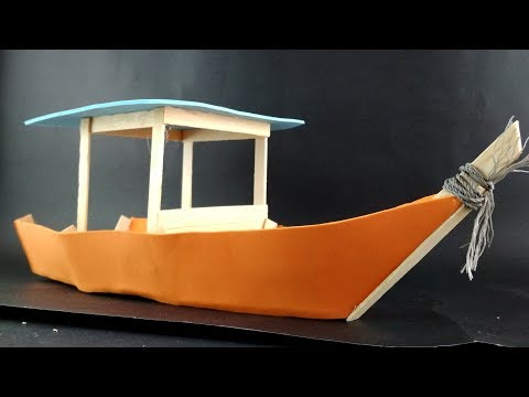 How to Make Boat - Using Popsicle Sticks