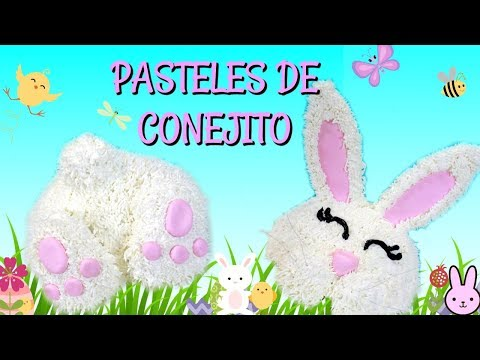 PASTEL DE CONEJITO DE EASTER (1MOLDE 2 PASTELES DE CONEJITO)