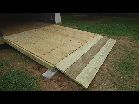 How to Build a Large, Simple Wooden Shed/Garage Ramp