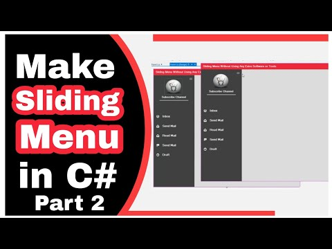 How to Create Sliding Menu Without Using Extra or Third Party Tools in Csharp VS 2012 Part 2