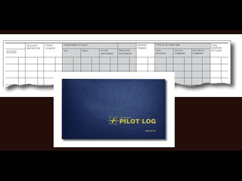 How to fill out your VFR PILOT LOG (Cross country planning)