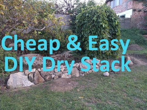 Building A Dry Stack Retaining Wall - Day 1