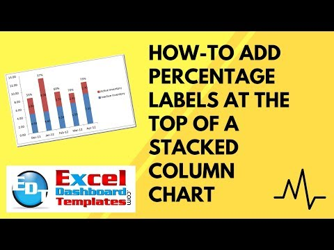How-to Add Percentage Labels at the Top of a Stacked Column Chart