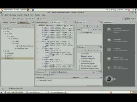 Use Ant with Eclipse 3.4 Java 6 and Ubuntu Part 2