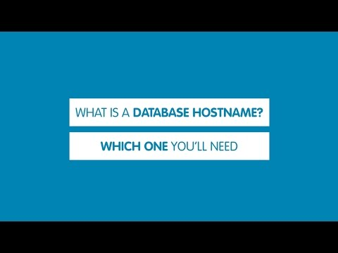 What is a database hostname | 123-reg Support