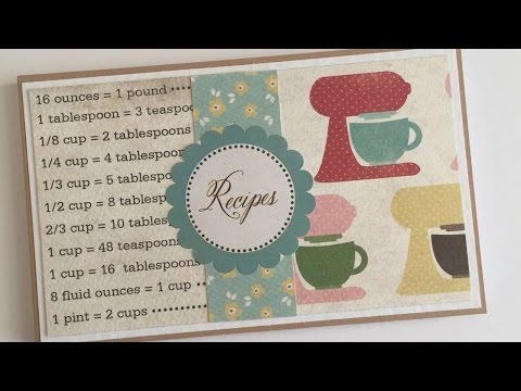 How To Make A Mini Recipe Book Using Flash Cards - DIY Crafts Tutorial - Guidecentral
