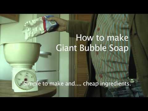 How to make Super bubble soap.