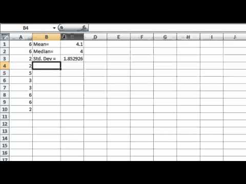 Excel Lab 10 - Statistics and Cumulative Percentage