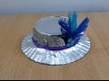Easy & Cute Hat Out of Paper Plate & Plastic Bowl ~ Doll Hat ~ Tutorial / Instructions ~ DIY ...